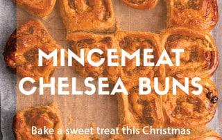 December recipe Mincemeat Chelsea buns