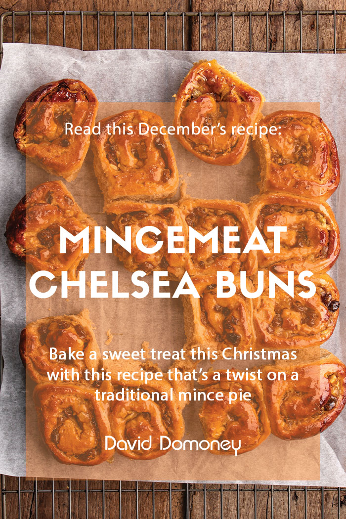 December recipe Mincemeat Chelsea buns