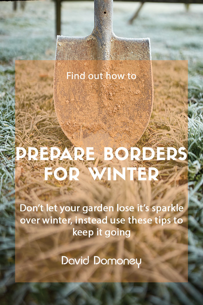 Prepare garden borders for winter