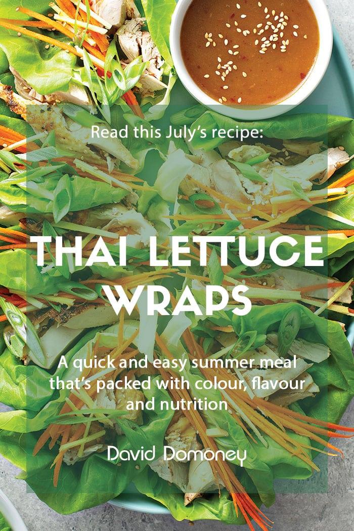 July recipe Thai lettuce wraps