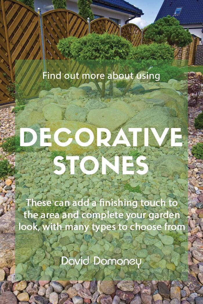 Using decorative stones in your garden designs